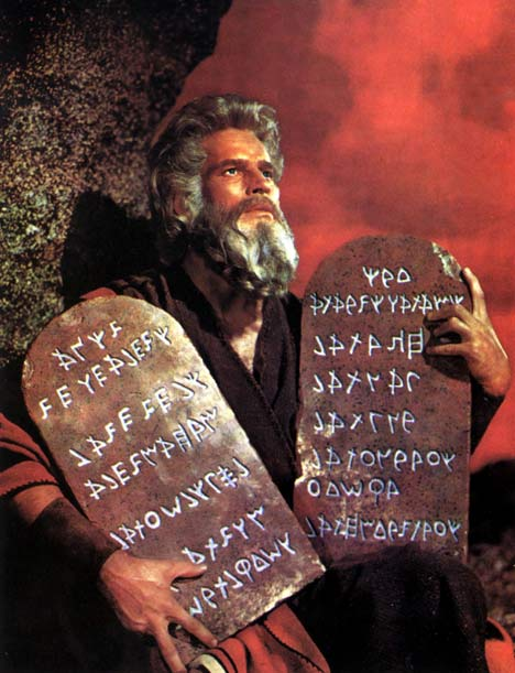 Charlton Heston, The 10 Commandments. An awesome movie? Yes indeed.