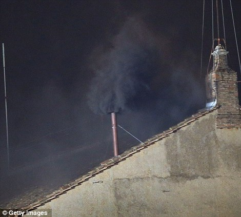 Black smoke means,well, pretty much the same fucking thing as white smoke