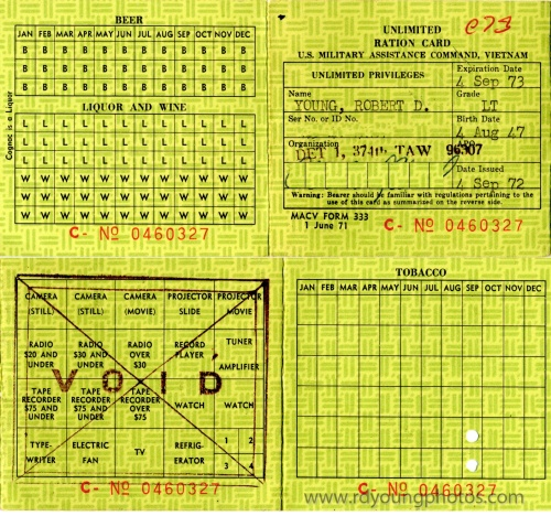 Ration card sample