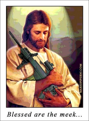 Jesus could have used an automatic weapon to gun down homos